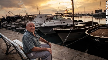 Giuseppe Vassallo, 94, says living in a beautiful place and keeping a vegetable garden are the secrets to a long life.