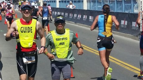 Blind US Army vet to race in Ironman