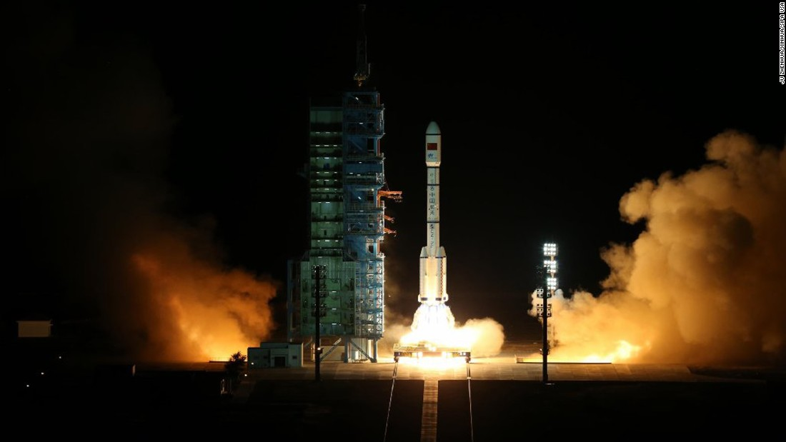 "A Long March-2F rocket blasts off from the Jiuquan Satellite Launch Center in the Gobi Desert on Thursday, September 15. The rocket was carrying the lab known as <a href=""http://www.cnn.com/2016/09/15/asia/china-launches-tiangong-2-space-lab/"" target=""_blank"">Tiangong-2</a>, which translates to ""heavenly vessel,"" according to state media China Central Television."