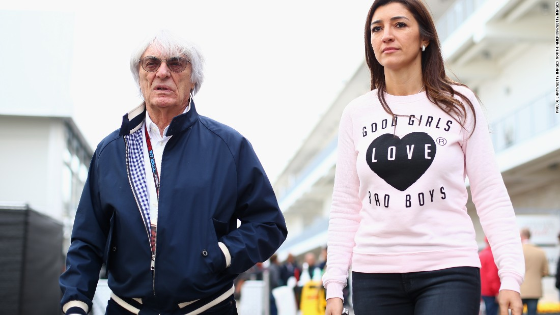 Ecclestone is married to his second wife Fabiana.