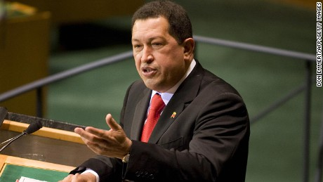 Venezuela's President Hugo Rafael Chávez speaks to the 64th session of the United Nations General Debate September 24, 2009 at the United Nations in New York.