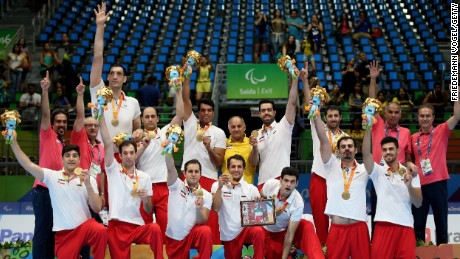 Iran's sitting volleyball team.