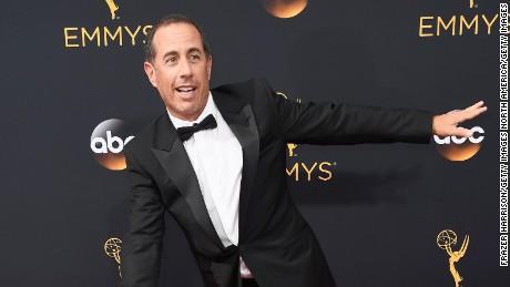 LOS ANGELES, CA - SEPTEMBER 18:  Comedian Jerry Seinfeld attends the 68th Annual Primetime Emmy Awards at Microsoft Theater on September 18, 2016 in Los Angeles, California.  (Photo by Frazer Harrison/Getty Images)