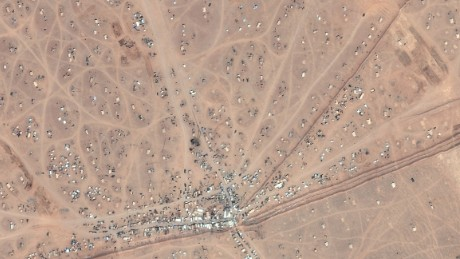 Satellite image shows the increasing number of makeshift tents
