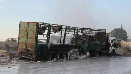 U.S. blames Russia for bombing aid convoy