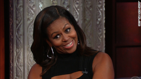 Michelle Obama impersonates the President