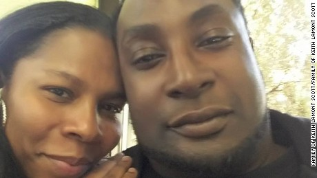 Keith Lamont Scott, shown with his wife, Rakeyia Scott.