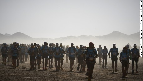 Competitors at the Marathon des Sables in Morocco