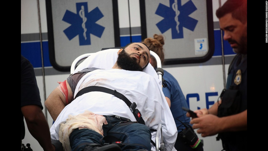 "Ahmad Khan Rahami is taken into custody after a shootout with police in Linden, New Jersey, on Monday, September 19. Rahami is the main suspect in a New York City bombing that left 29 people injured. <a href=""http://www.cnn.com/2016/09/19/us/ahmad-khan-rahami/"" target=""_blank"">He was also charged</a> in connection with an explosion in Seaside Heights, New Jersey."
