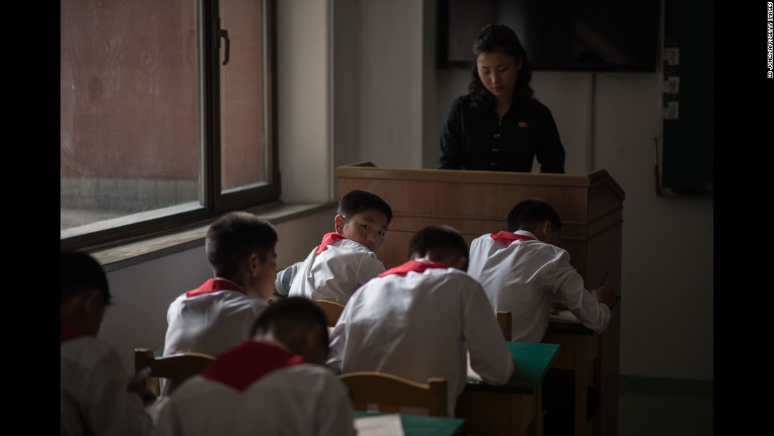 "Students take a test Thursday, September 22, at the Pyongyang International Football School in Pyongyang, North Korea. <a href=""http://www.cnn.com/2016/09/13/asia/cnnphotos-north-korea-maye-e-wong/index.html"" target=""_blank"">Beneath North Korea's ""orchestrated pageantry""</a>"