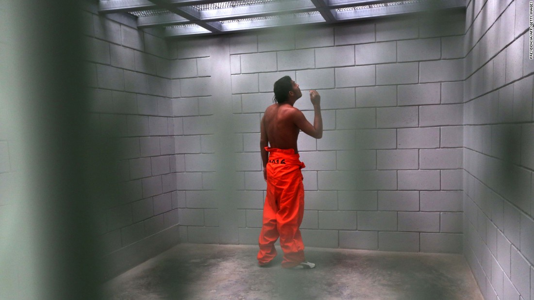 "A convict is seen in a new maximum-security prison in Tegucigalpa, Honduras, on Tuesday, September 20. Honduran authorities are trying to crack down on the influence that gang leaders have from behind bars, <a href=""http://www.bbc.com/news/world-latin-america-37424251"" target=""_blank"">according to the BBC.</a>"