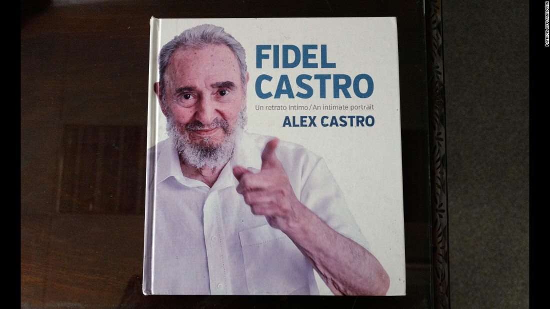 "The front cover of Alex Castro's book of photographs on his father, ""Fidel Castro: An Intimate Portrait."" The ex-Cuban leader's personal life and family are still considered a taboo subject in Cuba's state-run press."