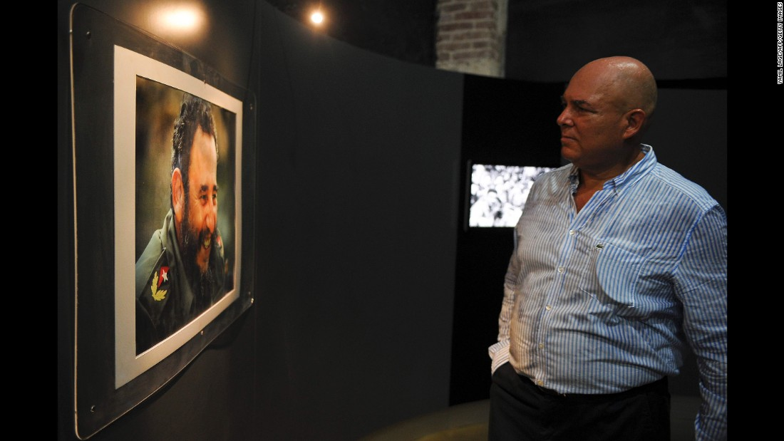 Alex Castro attends a photo exhibition celebrating his father's 90th birthday in August.