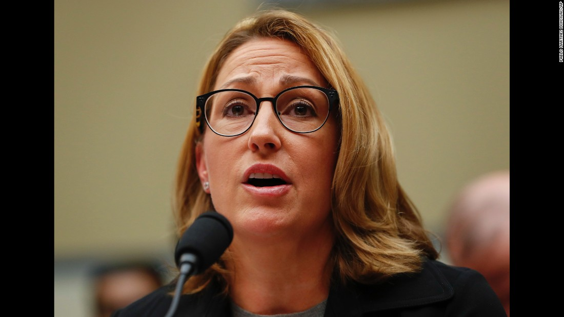 "Mylan Chief Executive  Heather Bresch testifies before the US House Oversight Committee on Wednesday, September 21. Bresch <a href=""http://money.cnn.com/2016/09/21/news/companies/mylan-epipen-house-oversight-committee/"" target=""_blank"">defended the cost increase of life-saving EpiPens</a> and said the company has no plans to lower prices despite a public outcry and questions from skeptical lawmakers. The pen injects a dose of epinephrine to stop life-threatening allergic reactions."