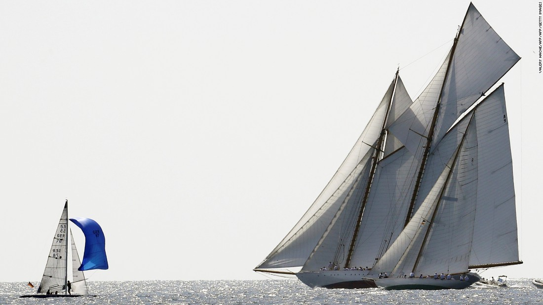 Each year, Cannes plays host to stunning vintage yachts from around the world as it stages the Regates Royales.