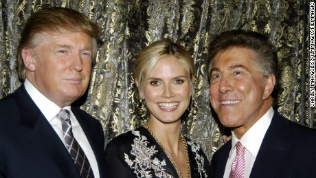 """This guy is a character. Most of my buddies are characters,"" Steve Wynn (R) says of Donald Trump (L), seen here with Heidi Klum."