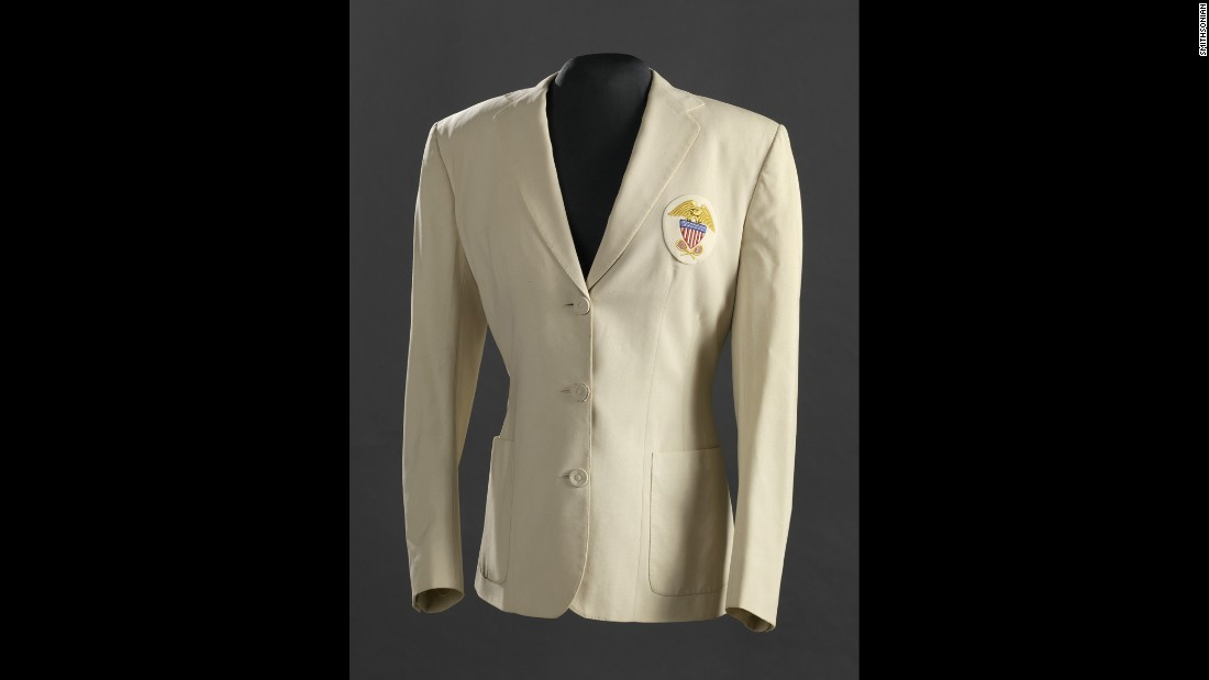 Tennis great Althea Gibson was the first African-American woman to win a Wimbledon tennis championship. The museum has many Gibson items, including this U.S. Tennis Association wool blazer from the 1957 Wightman Cup, which Gibson won.