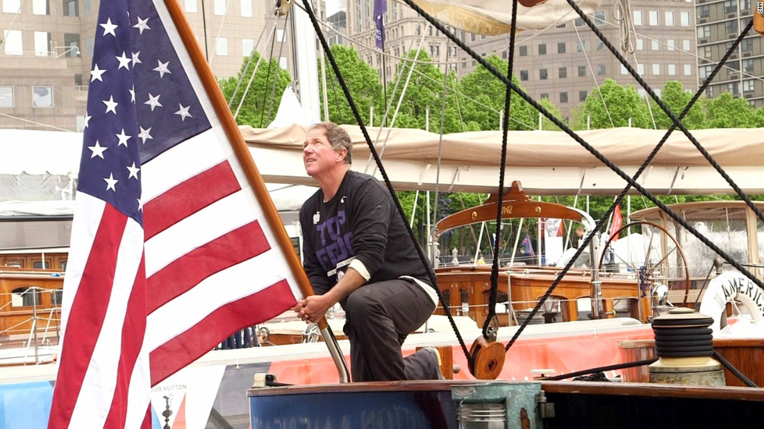 The 139-foot schooner is owned and skippered by Troy Sears.