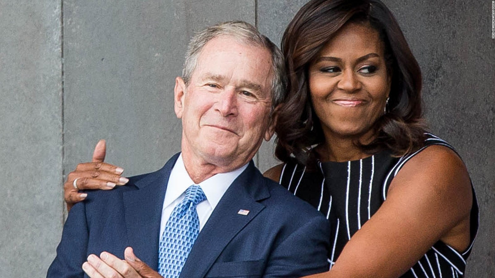 George W Bush Explains His Fondness For Michelle Obama Cnnpolitics