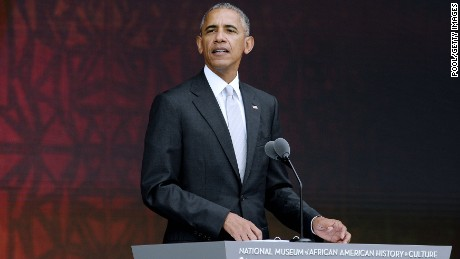 U.S President Barack Obama speaks at the opening ceremony of the Smithsonian National Museum of African American History and Culture on September 24, 2016 in Washington, DC.