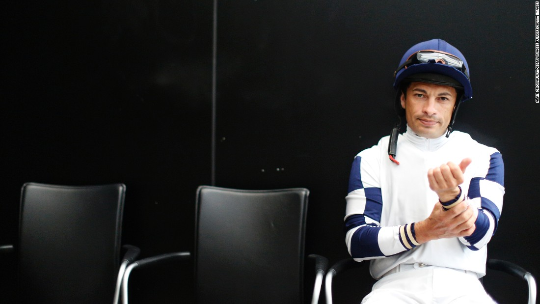 Silvestre de Sousa in the weighing room at Ascot -- the racecourse where he hopes to be crowned the UK's champion jockey for a second straight season in October.