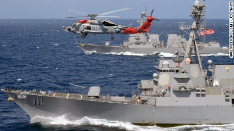 USA warships again challenge Beijing's claims in South China Sea