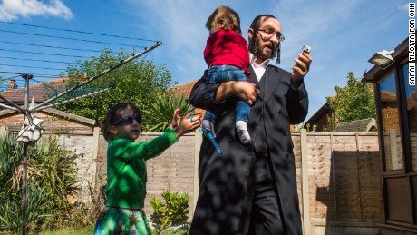 An orthodox Jewish community is leaving their overcrowded, north London neighborhood to put down new roots in rural, flood-prone Canvey Island, where the Thames River meets the sea.