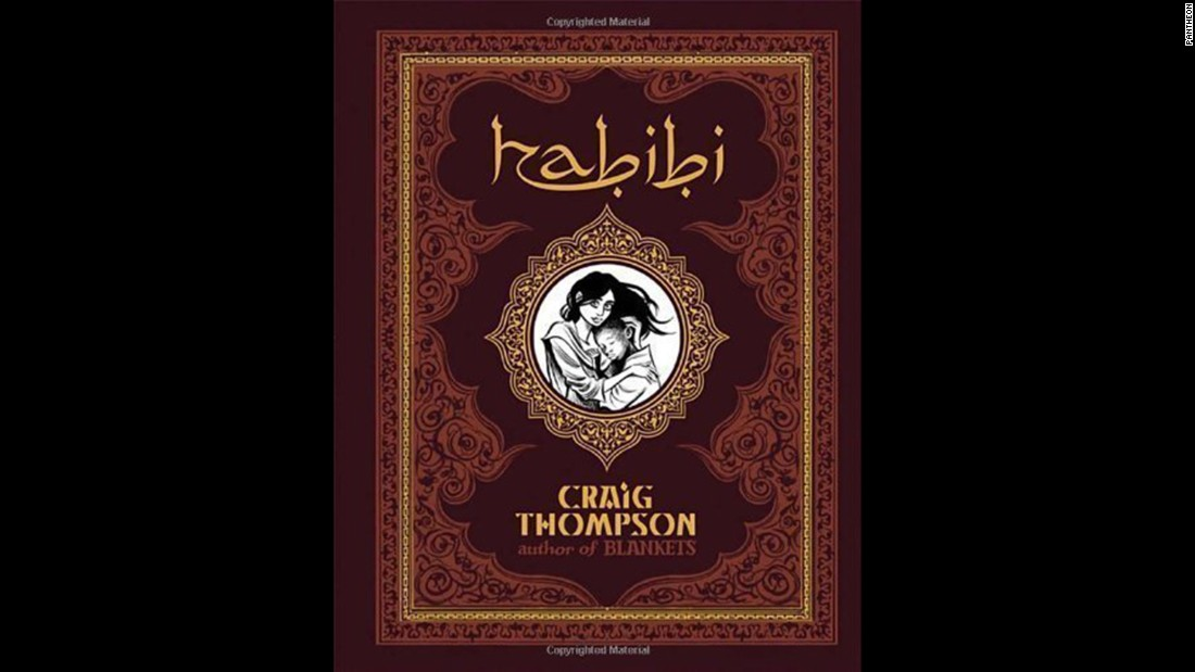 "Another graphic novel, this time, set in an Islamic fairy tale landscape, ""Habibi"" tells the story of two escaped child slaves who grow to love each other. Reasons cited in challenges included nudity, sexually explicit content and being unsuited for age group."
