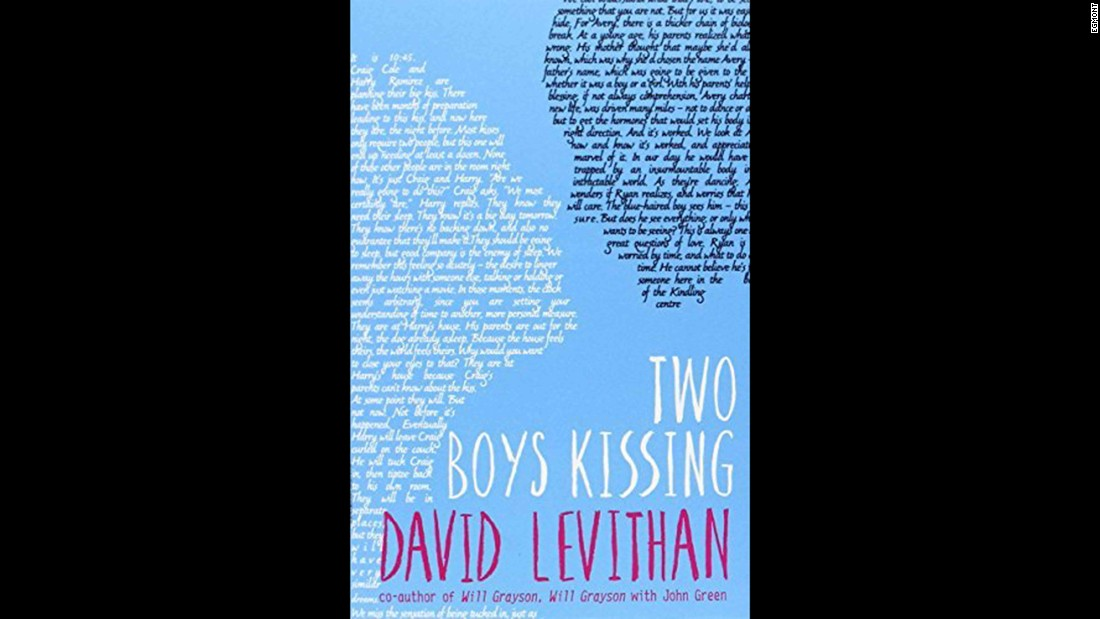 "As the title suggests, ""Two Boys Kissing"" is about two boys trying to set a new world record for kissing. It was challenged for homosexuality and because it ""condones public displays of affection."""