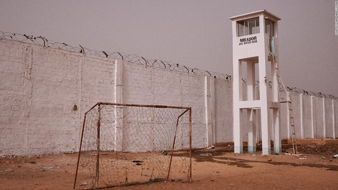 Walls of the the prison housing over 1000 inmates in the city of Thiès, Senegal.