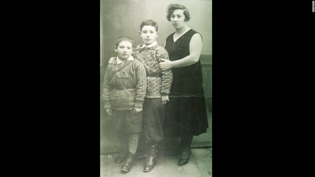 Shimon Peres was born on August 2, 1923 in Wisniew, Poland, where he lived before his family migrated to British-mandate Palestine in 1932. He is pictured here, center, with his mother, Sarah, and younger brother Gershon.