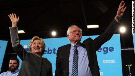 Clinton, Sanders unite to court millennials