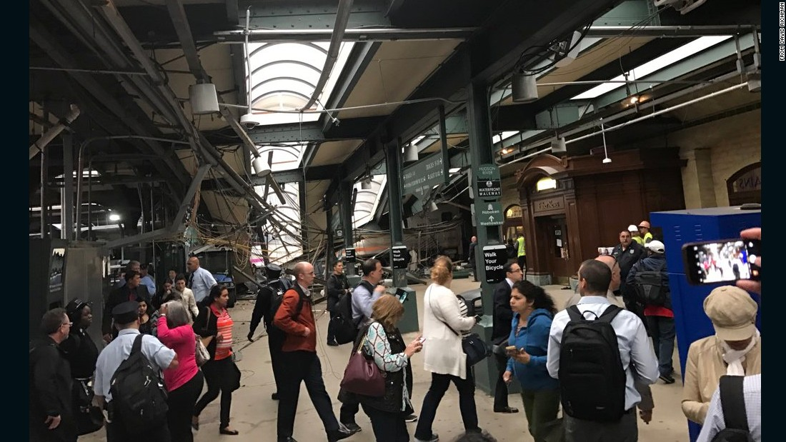 Images posted on social media show severe structural damage at the terminal.