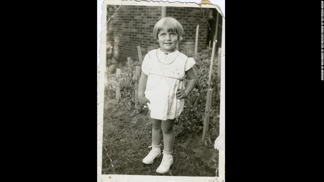 Photograph of Ruth Bader taken when she was 2 years old.