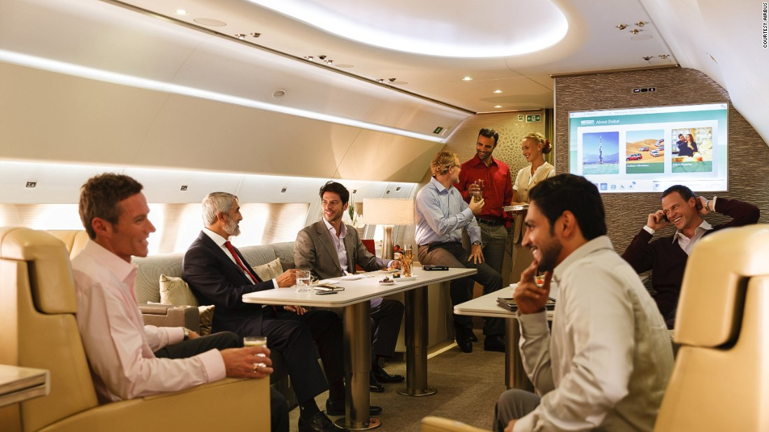 Luxury jets whisk VIPs to their destinations in flying palaces