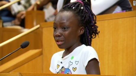 Girl's speech inspires city of Charlotte after shooting