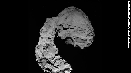 OSIRIS wide-angle camera image taken at 11:49 GMT on 29 September 2016, when Rosetta was 22.9 km from Comet 67P/Churyumov--Gerasimenko. On 30 September, Rosetta descends to the surface of the comet, targeting a region on the small comet's lobe.