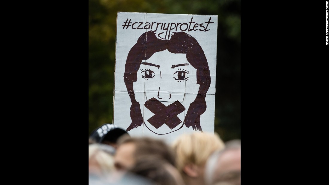A sign during the pro-choice demonstration on Saturday.