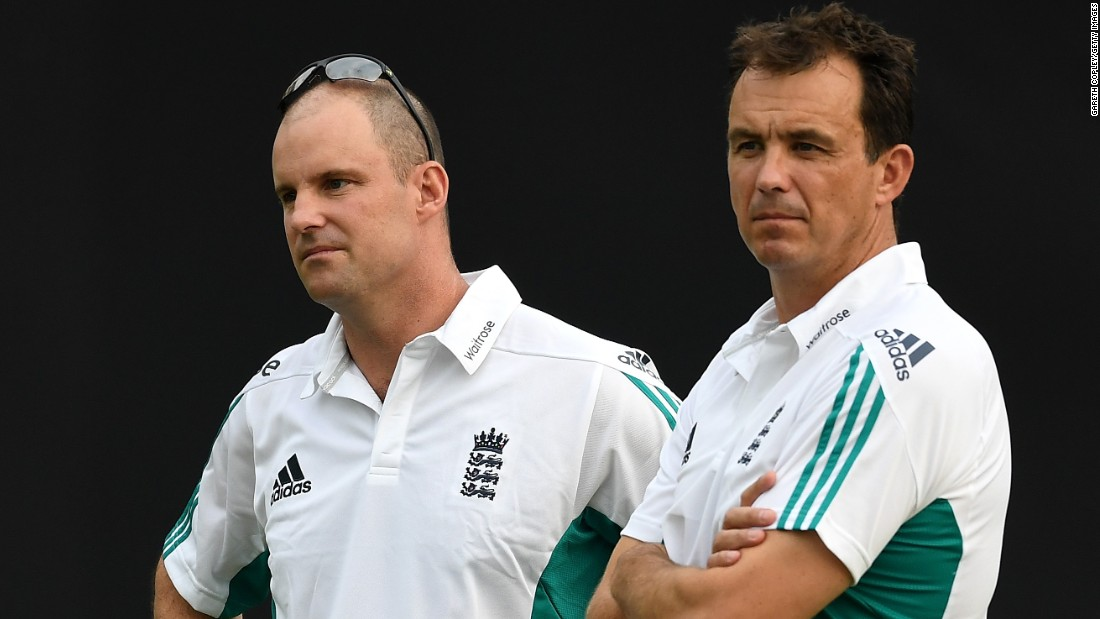 "Director of England cricket Andrew Strauss (L) and England & Wales Cricket Board Chief Executive Tom Harrison have also traveled to Bangladesh with the team. Strauss, a former England captain, said the squad were ""really happy"" to be in Bangladesh and said if he and Harrison hadn't gone it would  felt ""slightly off the mark."""
