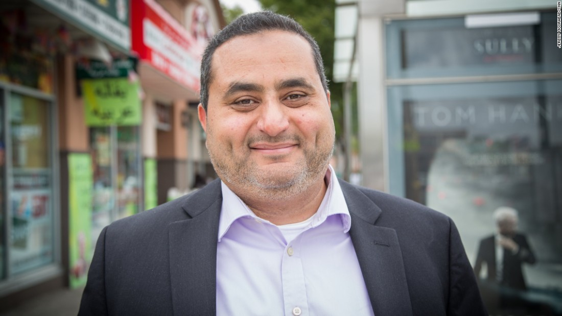 "Hesham El-Melingy, born in Egypt, lives on Staten Island. Co-founder of the founder of the Islamic Civic Association of Staten Island, ran for New York City Comptroller in 2013 as a Libertarian. <br /><br />""We're between a rock and a hard place, Hillary with her records and Trump with his rhetoric, but most people are afraid of the rhetoric unfortunately more because Hillary didn't do something bad actually against them."""
