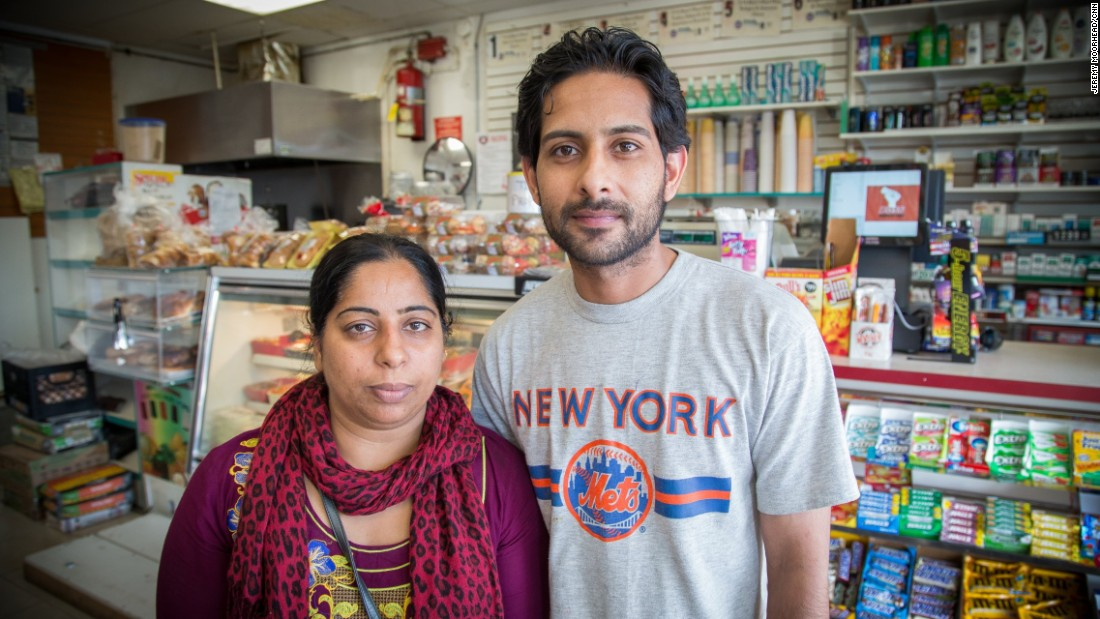"Samaira Kouser & Muhammad Saqib, both originally from Pakistan, Kouser moved to the U.S. when she was 12 and Saqib is in the process of becoming a citizen. They have three daughters. Kouser will vote for the first time for Hillary Clinton. <br /><br />""I love America. This is my country... When I was growing up and my mom told me, 'Let's go back to our country.' I said, 'No, I don't want to go back.'"""