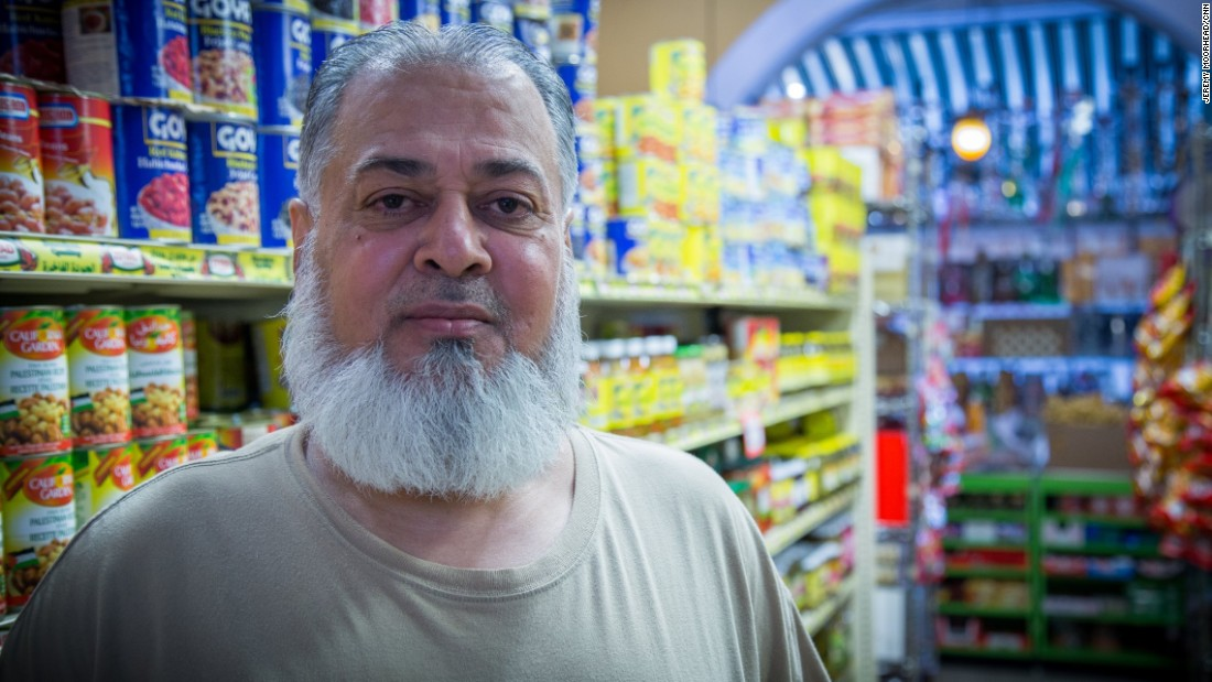 "Haji Khan, 56, born in Pakistan, came to the U.S. in 1980, has lived on Staten Island for around 15 years and has five children. A Democrat likely to vote for Hilary Clinton. <br /><br />""America was beautiful like the song you hear. America was more than beautiful paradise when I came to this land... They don't care about my color. They don't care about my face, my color, my talk, my accent. They don't care. They just love me to talk to me. They feed me. It was welcome people, beautiful people."""