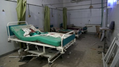 Syrian hospital caught in the crossfire