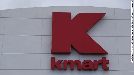 MIAMI, FL - SEPTEMBER 22:  A Kmart sign is seen outside one of their stores on September 22, 2016 in Miami, Florida. Kmart, now a part of Sears holdings, according to reports is closing 64 stores around the country in December.  (Photo by Joe Raedle/Getty Images)