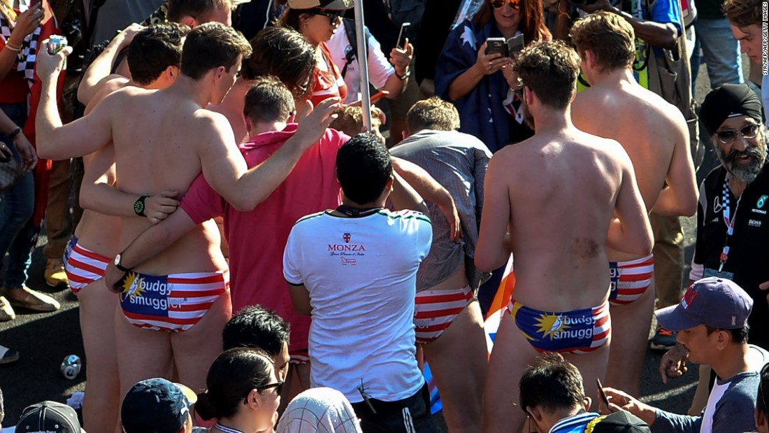 Australians arrested for stripping down to briefs at Malaysian F1