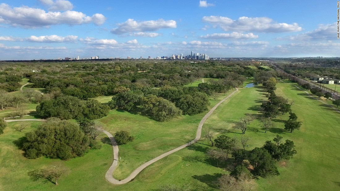 "<strong>Lions Municipal Golf Course, Austin, Texas</strong>—<a href=""http://www.savemuny.com/"" target=""_blank"">Nicknamed ""Muny,"" </a>Lions Municipal Golf Course is commonly known as the first municipal golf course in the South to desegregate (in 1951). It's facing development pressure.<br />"