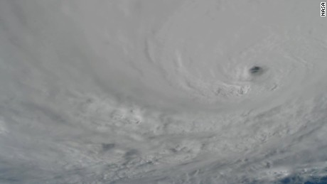 See Hurricane Matthew churn from space