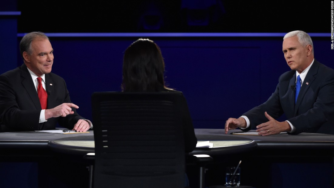 The rival running mates repeatedly interrupted each other -- and debate moderator Elaine Quijano -- during the debate.