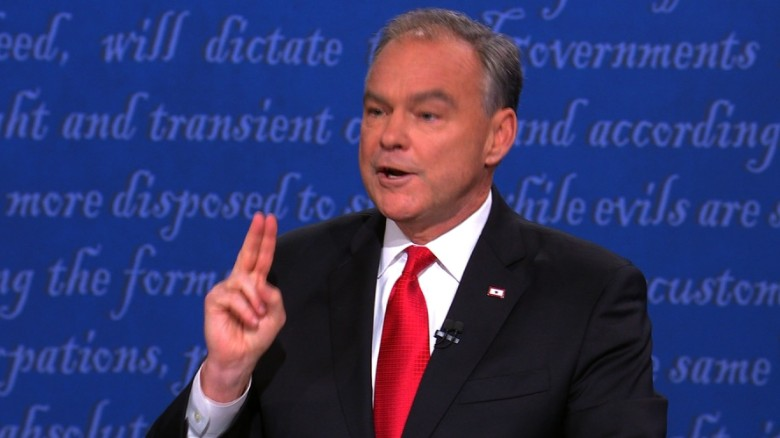 Kaine struggles to answer question on hacked Clinton emails
