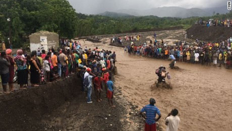 Emergency responders can't get to devastated parts of southern Haiti after a key bridge collapsed.